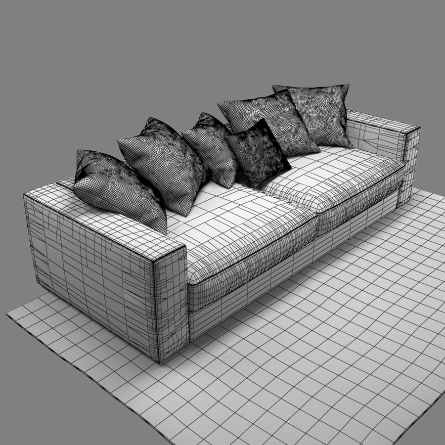 soffa BoConcept Cenova royalty-free 3d model - Preview no. 10