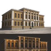 늙은 러시아 건물 3d model