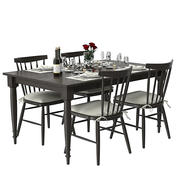 Set tavolo da pranzo allungabile Wolcott 3d model