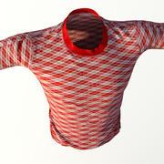 T-shirt realista para homens 3d model