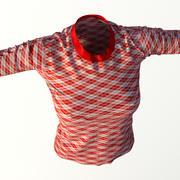 T-shirt realista para mulheres 3d model