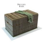 Tronco tejido de granero de cerámica con asas de cuerda modelo 3d