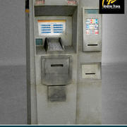 Caixa eletrônico. ATM 3d model