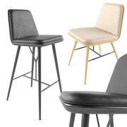 Stołek barowy i krzesło 3d model