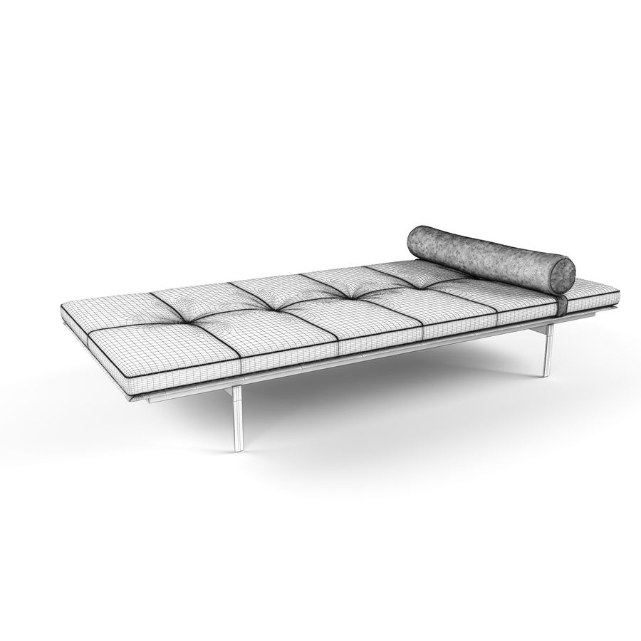 YARD DAYBED royalty-free 3d model - Preview no. 5