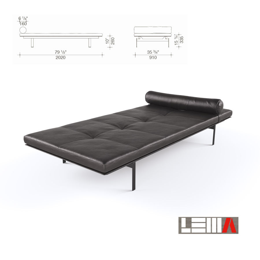 YARD DAYBED royalty-free 3d model - Preview no. 3