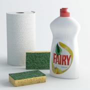 Cosas de limpieza para la cocina modelo 3d