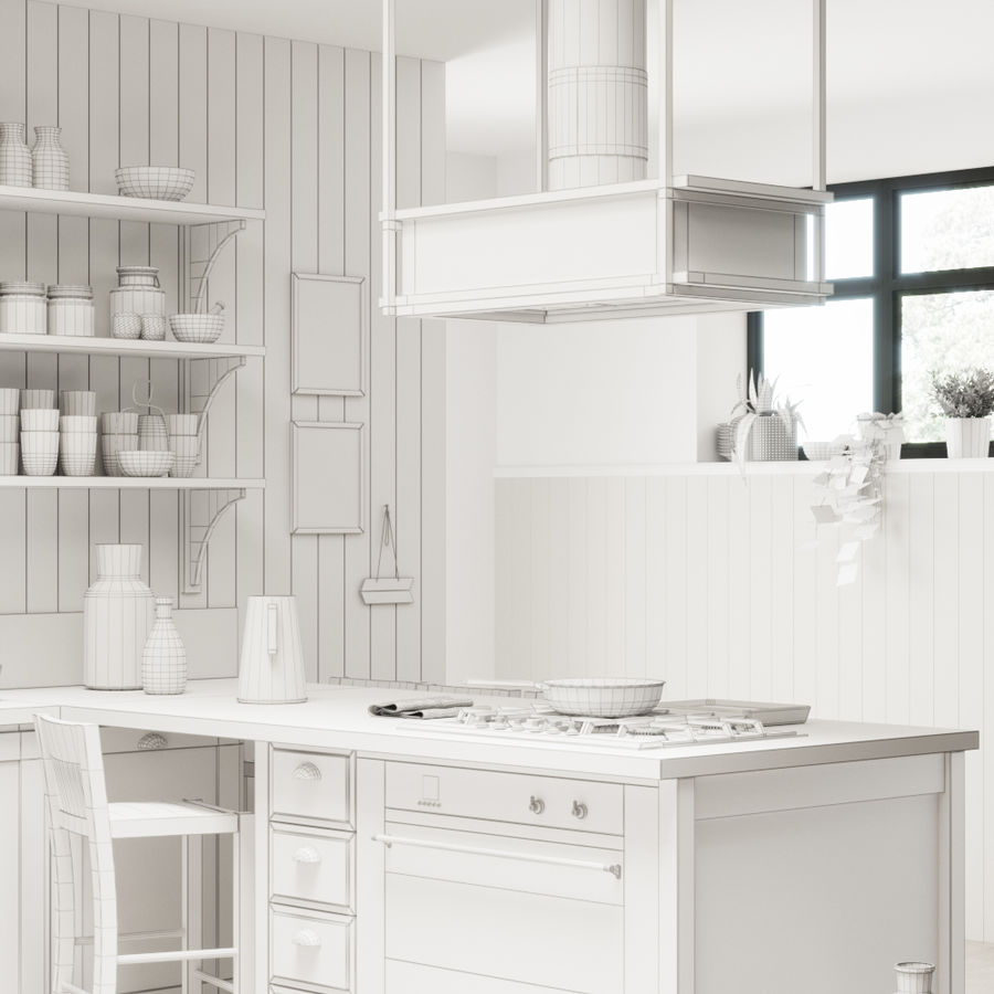 KEUKEN Scavolini 3 royalty-free 3d model - Preview no. 7