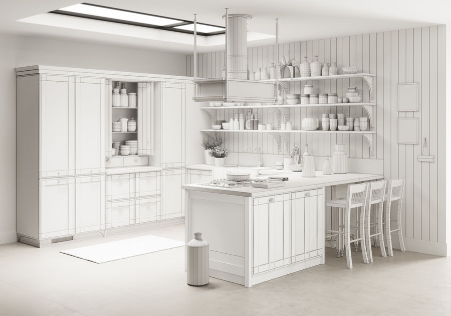 KEUKEN Scavolini 3 royalty-free 3d model - Preview no. 6