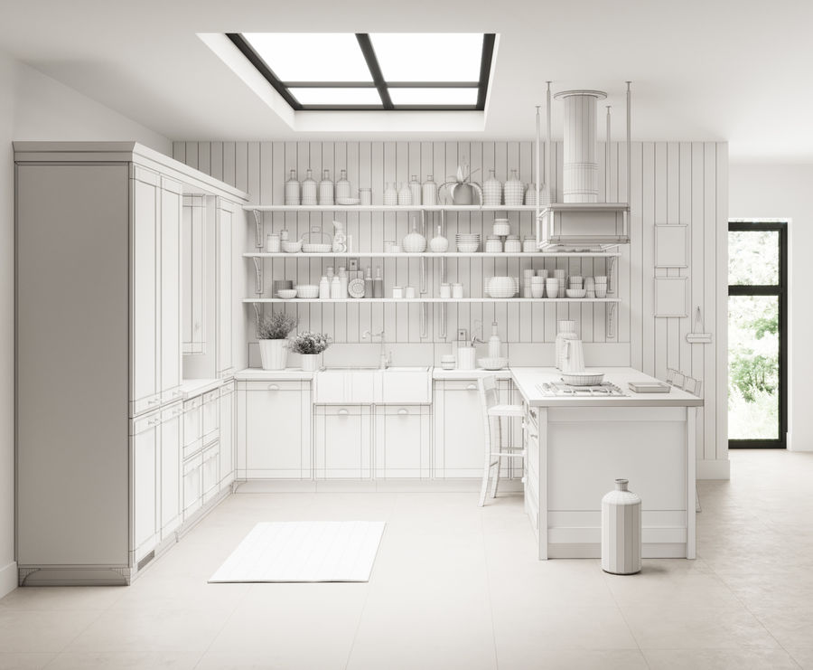 KEUKEN Scavolini 3 royalty-free 3d model - Preview no. 5