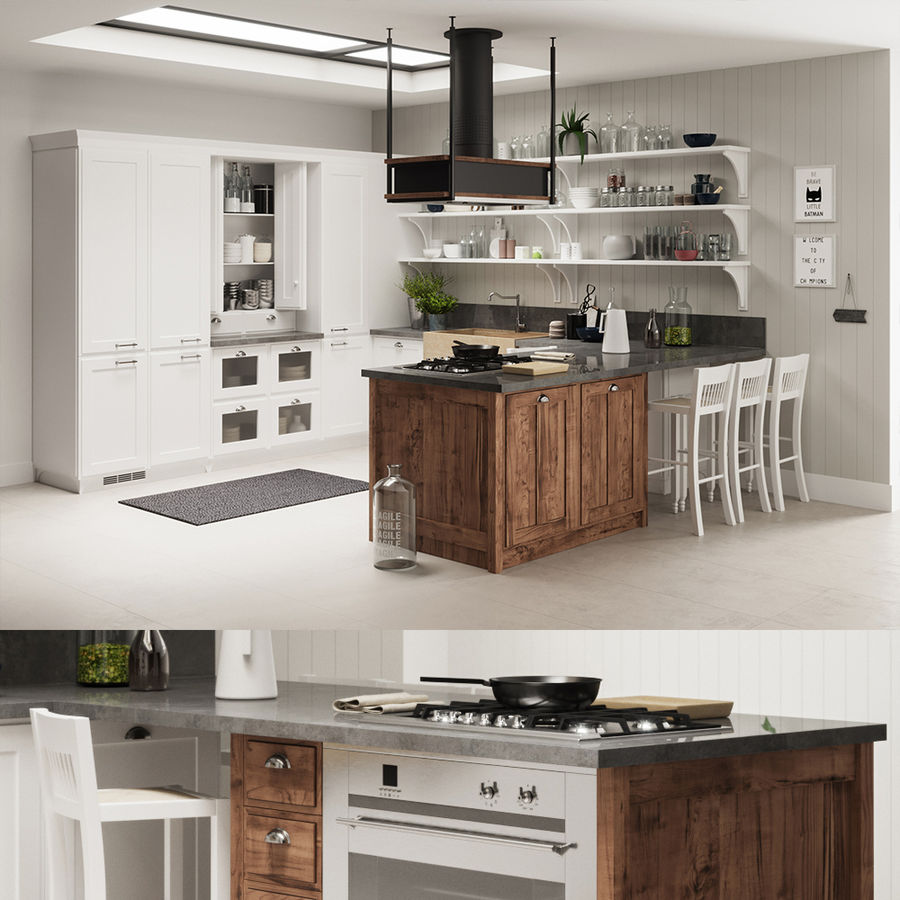 KEUKEN Scavolini 3 royalty-free 3d model - Preview no. 1