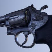 Smith e Wesson Modelo 629 (44 Revólver Magnum) 3d model