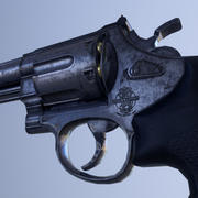 Smith y Wesson Modelo 629 (44 Magnum Revolver) modelo 3d