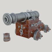 Unicorn för fartygskanon 3d model