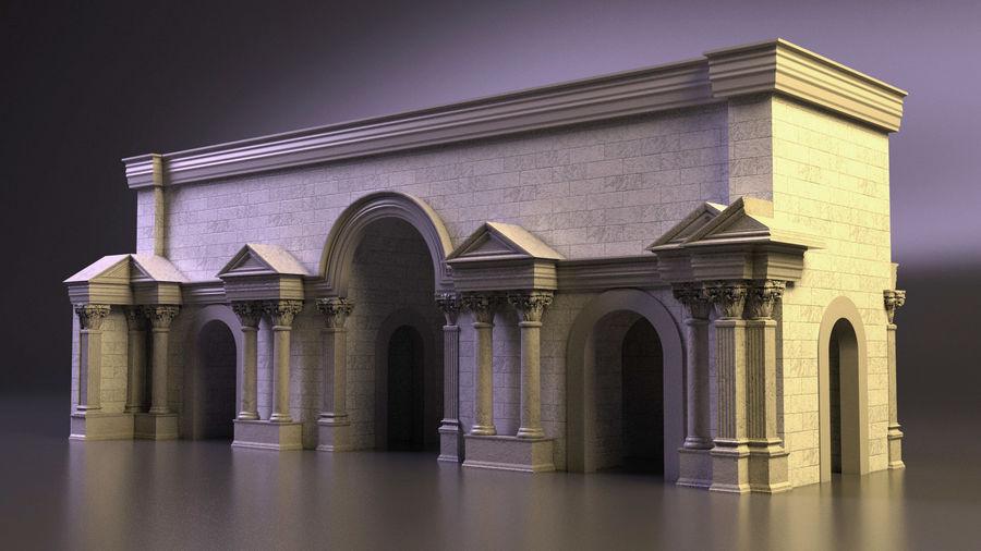 römischer Triumphbogen royalty-free 3d model - Preview no. 4