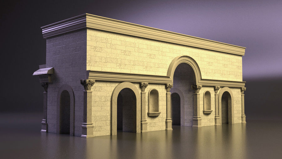römischer Triumphbogen royalty-free 3d model - Preview no. 3