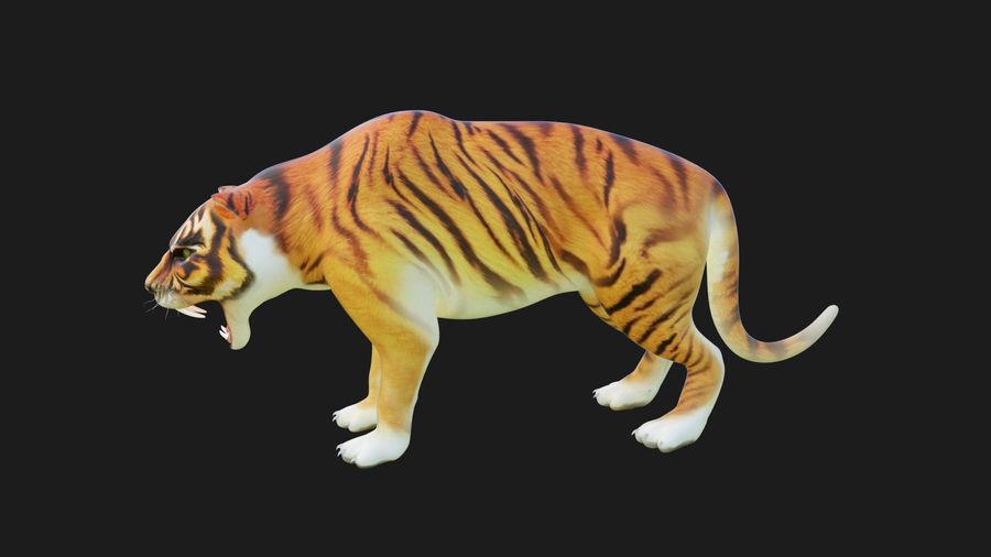 Pele de tigre royalty-free 3d model - Preview no. 5