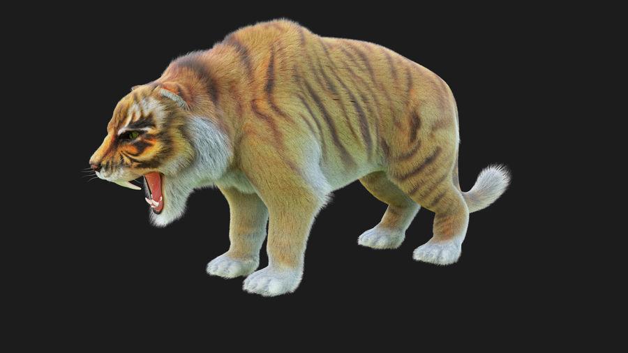 Pele de tigre royalty-free 3d model - Preview no. 2