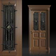 Portas de madeira e ferro 3d model