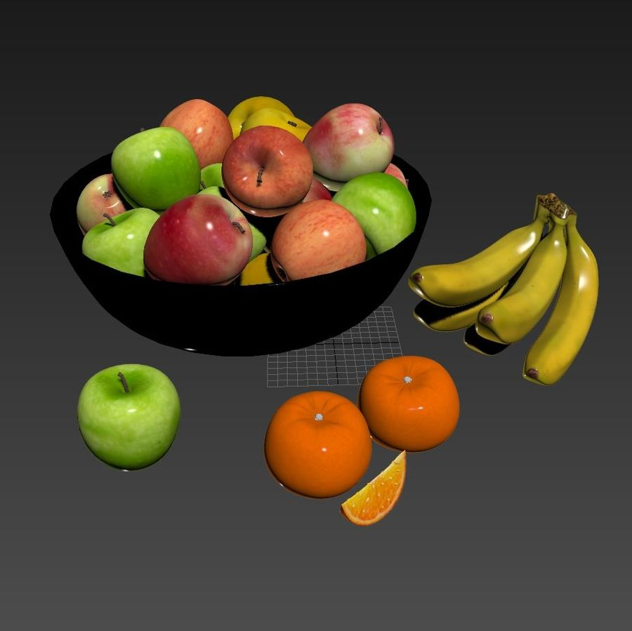 fruits royalty-free 3d model - Preview no. 3
