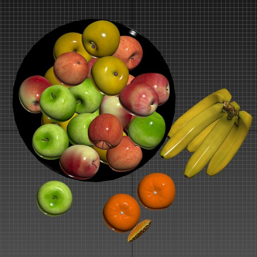 fruits royalty-free 3d model - Preview no. 4