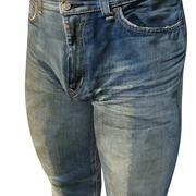 Faded Boot Cut Jeans 3d model