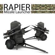 레이피어 미사일 발사기 3d model