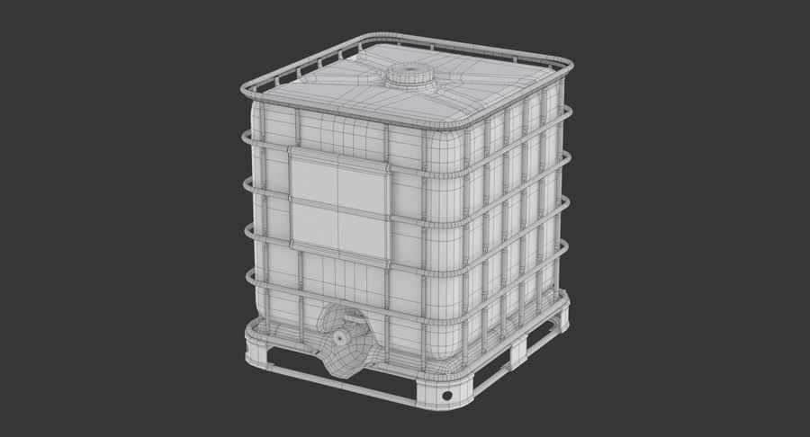 Wateropslagtank royalty-free 3d model - Preview no. 11