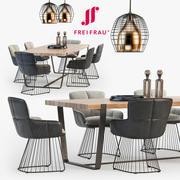 Freifrau Dining set_01 3d model
