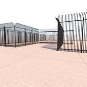 Security Fence - Gate 3d model