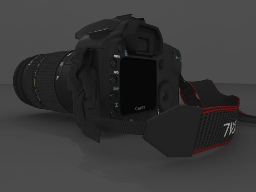 CANON 30D royalty-free 3d model - Preview no. 3