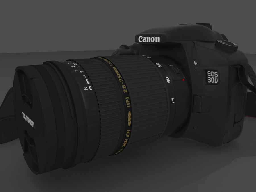 CANON 30D royalty-free 3d model - Preview no. 4
