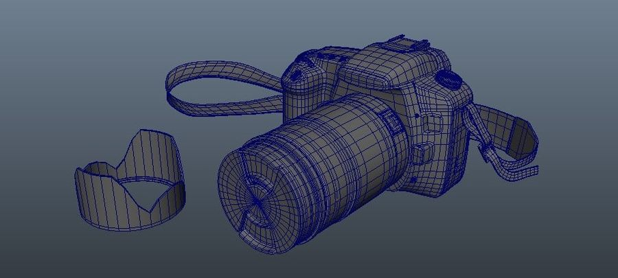 CANON 30D royalty-free 3d model - Preview no. 6