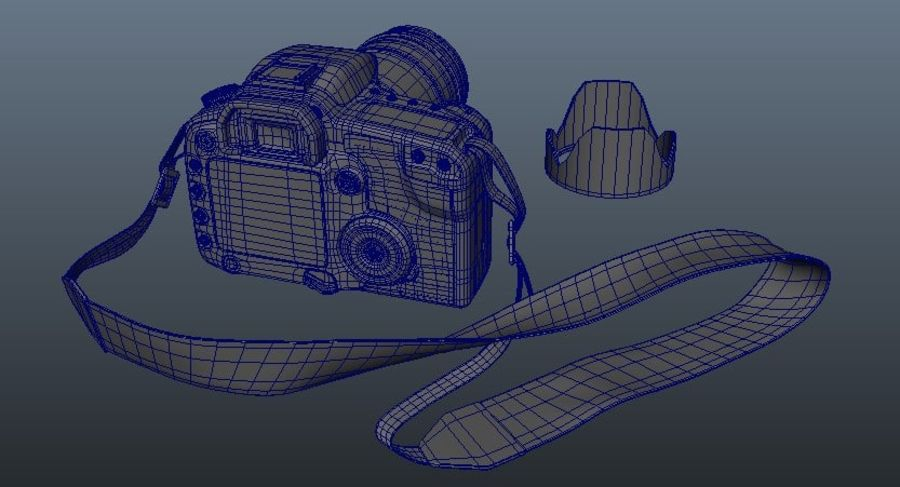 CANON 30D royalty-free 3d model - Preview no. 8