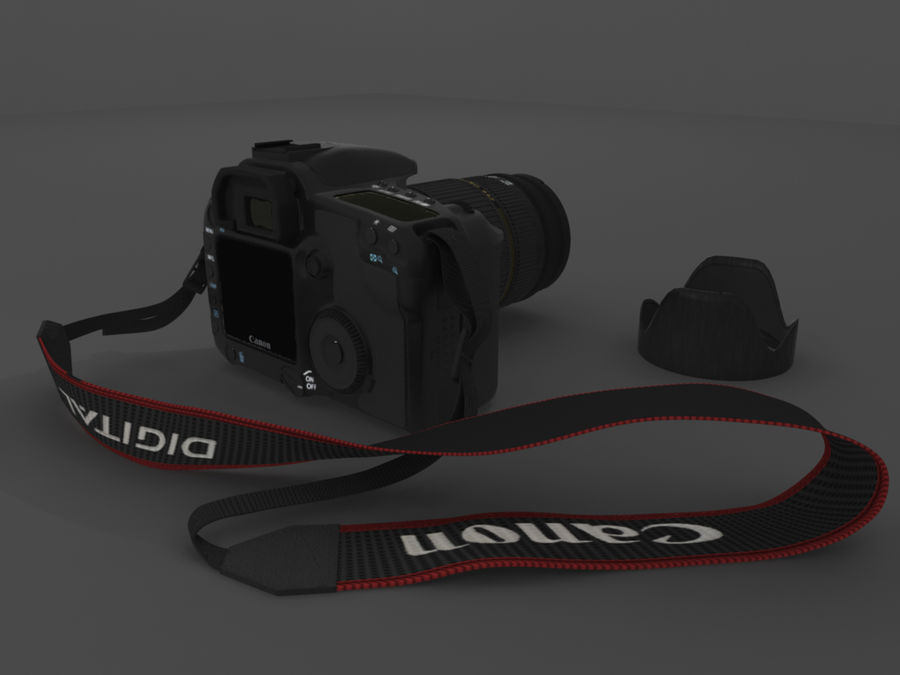CANON 30D royalty-free 3d model - Preview no. 2
