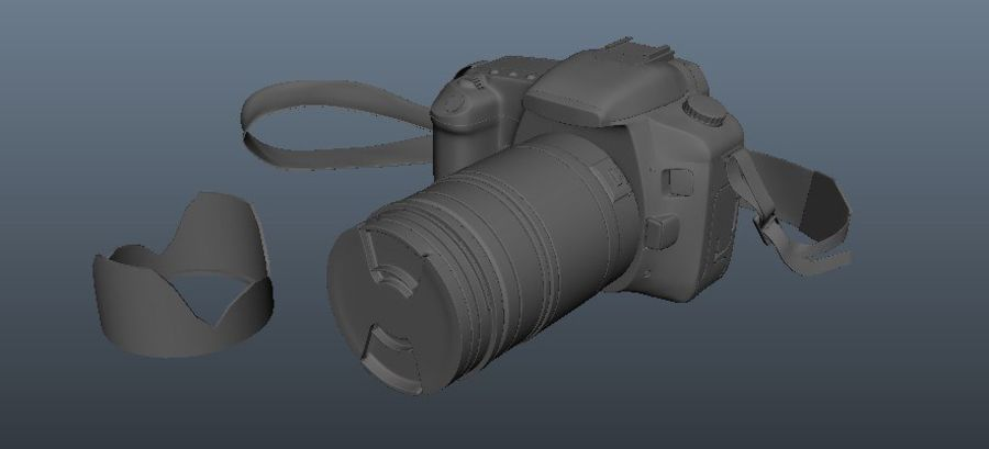 CANON 30D royalty-free 3d model - Preview no. 7