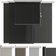 persianas verticales en 4 colores modelo 3d