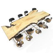 Levande kantbordsset 3d model