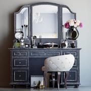 Dekorationssats för toalettbord svart 3d model