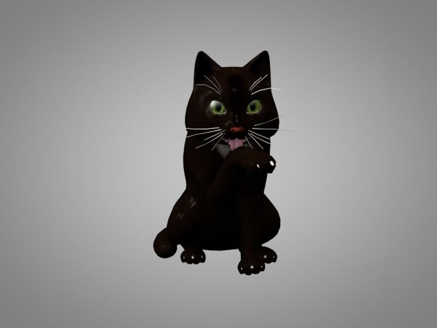 Katt eller katt royalty-free 3d model - Preview no. 2