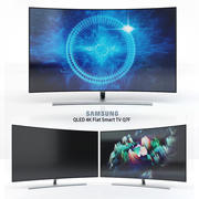 "Samsung 55 ""och 65"" QLED 4K böjd Smart TV Q8C 3d model"