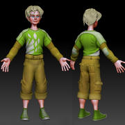 Junge Cartoon 3d model