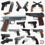 권총 컬렉션 3d model