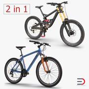 Mountainbike-Sammlung 3d model