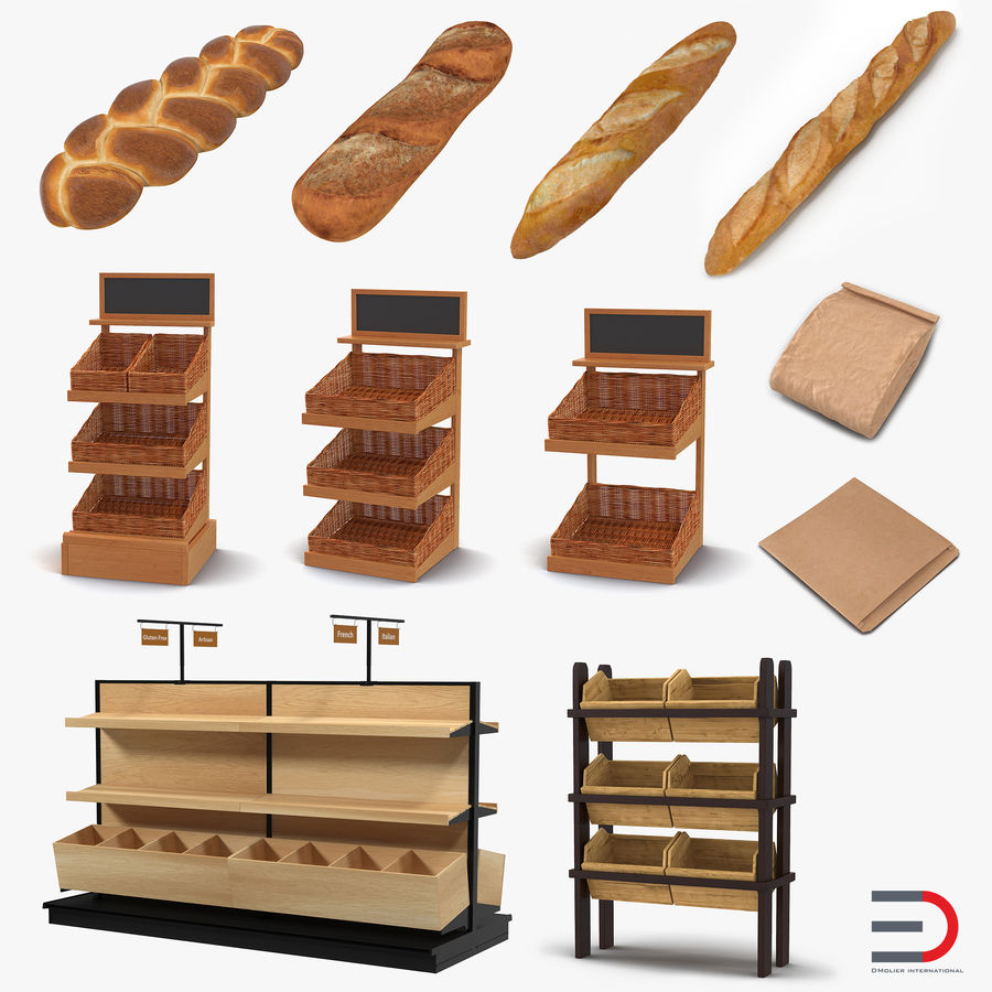 Bakery 3D Models Collection royalty-free 3d model - Preview no. 1
