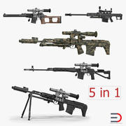 Sniper Rifles 3D-modellencollectie 3d model