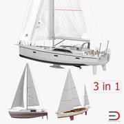 Collection de yachts à voile 3d model