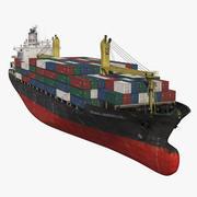컨테이너 선박 일반 3d model