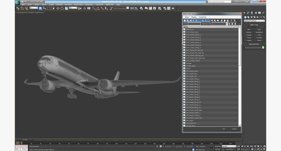 Airbus A350-1000 Generic royalty-free 3d model - Preview no. 23