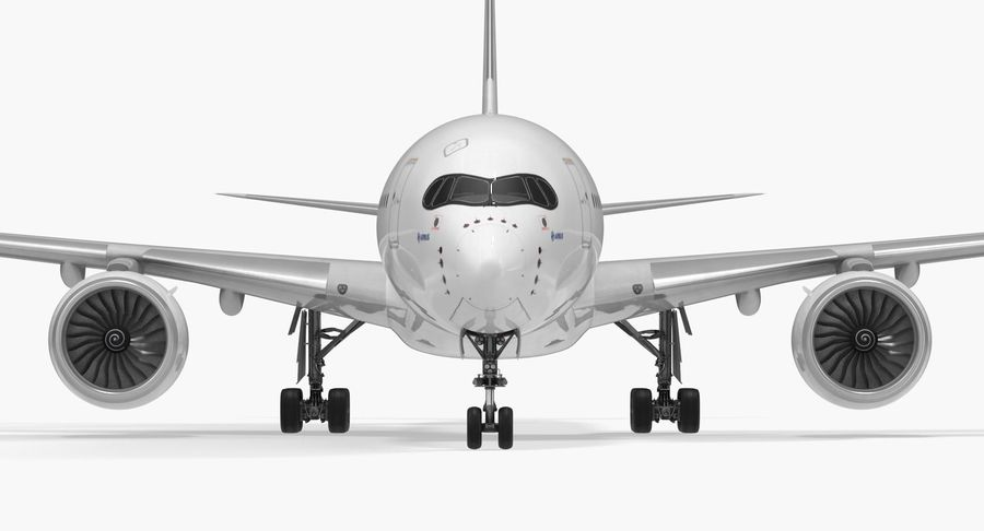 Airbus A350-1000 Generic royalty-free 3d model - Preview no. 12